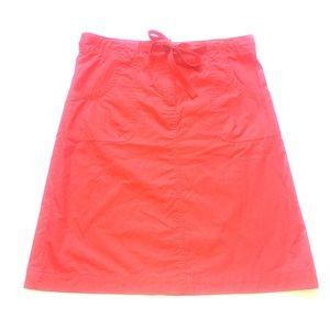 Talbots 💯 % Cotton Red Skirt sz. 10